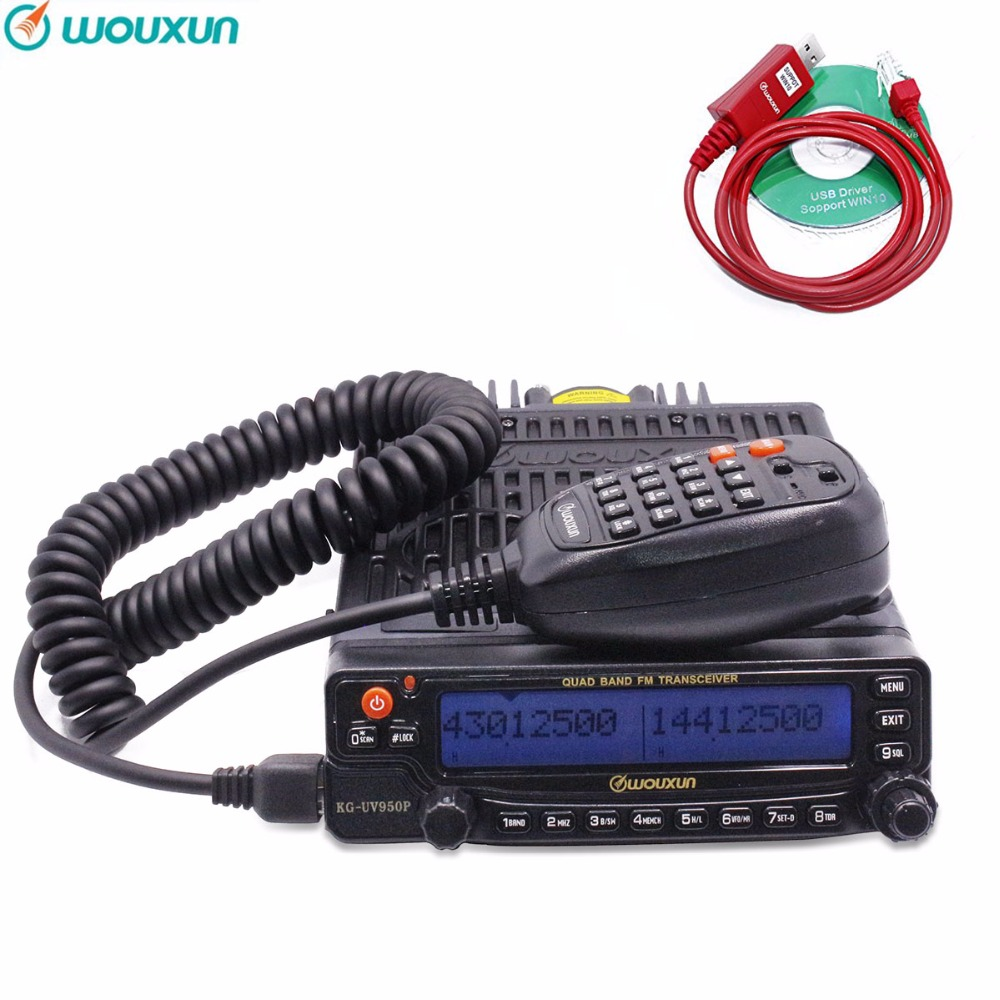 Wouxun KG UV950P Quad Bands Transmission Eight Bands Reception High Power Mobile Transceiver With Multi Functions Two Way Radio