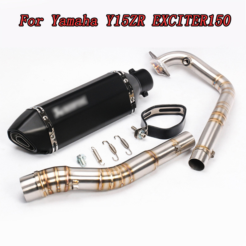 KAJIMAOYI Motorcycle Exhaust Full system FOR Yamaha Y15ZR R3  EXCITER150 with exhaust