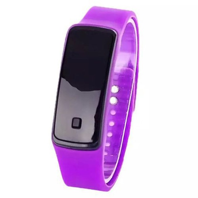 Womens Men Watch, Fitness Watch Concise Silicone Band Digital LED Bracelet Wristwatch, Sports Running Watches for Men Women