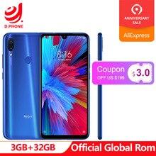 Resmi Küresel Rom Xiaomi Redmi Not 7 3 GB RAM 32 GB ROM Snapdragon 660 Octa Çekirdek 6.3