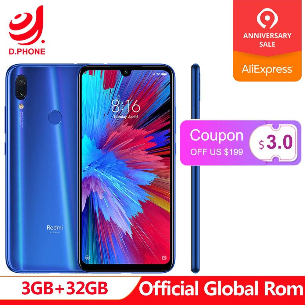 Rom officielle globale Xiaomi Redmi Note 7 3 GB RAM 32 GB ROM Snapdragon 660 Octa Core 6.3
