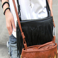 kai yunon Women Fashion Fringe Tassel Shoulder Messenger Bag Hand Style Women Lady Satchel Aug 25