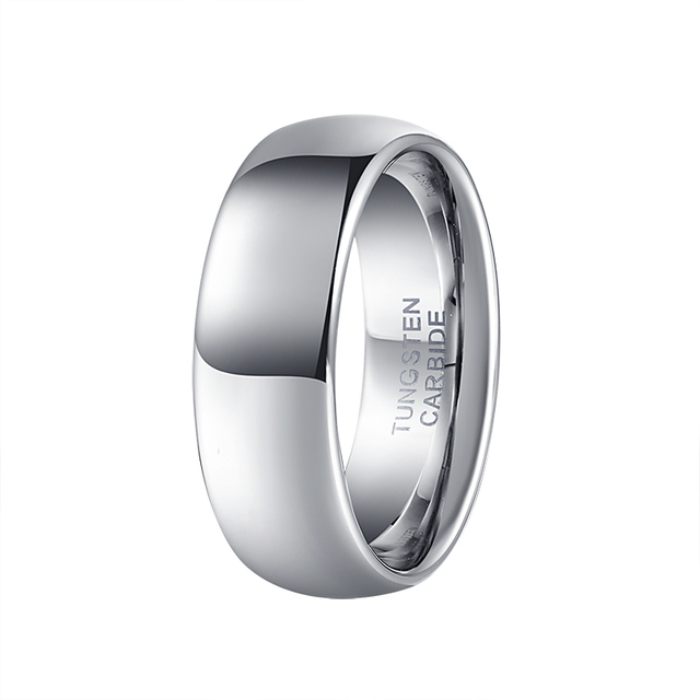 band steel finish polished domed comfort stainless men fit rings s wedding mens