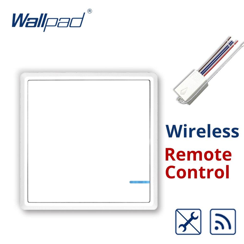 Wallpad Sans Fil Lumières Commutateur Kit Aucun Câblage Qucik Créer ou Relcate Sur/Off Commutateurs pour Lumières Lampes Appareils Fans