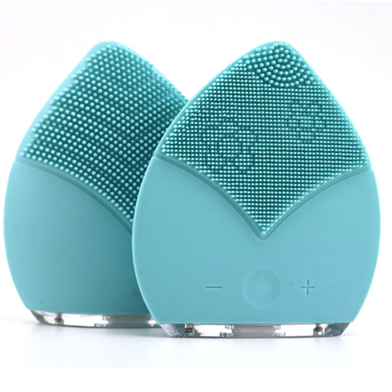 Mini Electric Facial Massage Brush Cleaner Silicone Waterproof Ultrasonic Instrument Facial Spa Massager Beauty Tool Device men faux shearling plaid jacket