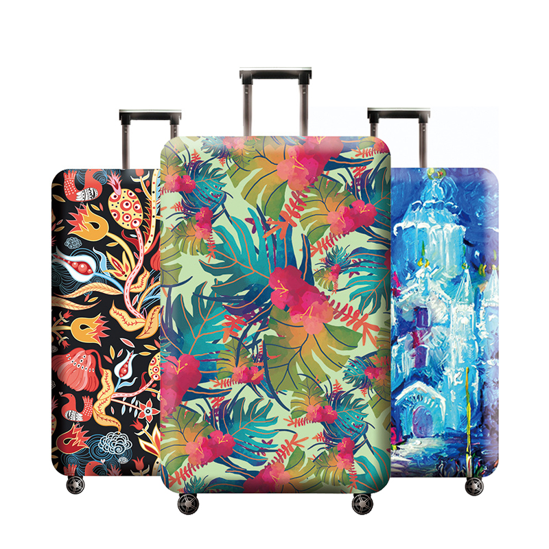 Abstract Art Pattern Luggage Protector Suitcase Elastic Protective Covers Traveling Accessories Trolley Case Dust For 18-32 Inch