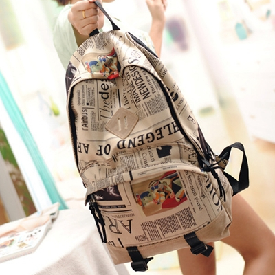 Aliexpress.com : Buy Map Backpack Flag 2015 New Canvas Newspaper ...