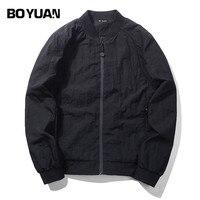BOYUAN Bomber Jacket Men 2017 Spring Autumn Jacket Coat Casual Solid Regular Male Jacket Style Outerwear
