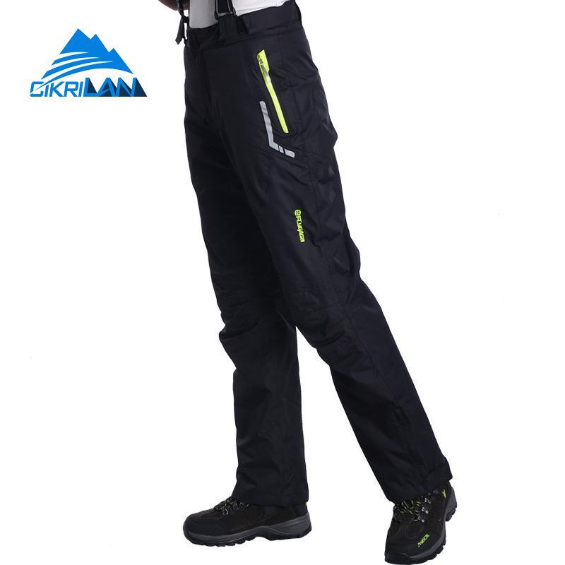 Winter Sport 2in1 Outdoor Waterproof Snowboard Ski Overalls Climbing Trekking Hiking Pants Women Fleece Liner Camping Trousers