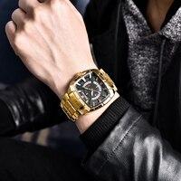 NEW BENYAR Luxury Brand Mens Sport Watch Steel Quartz Watches Men Waterproof Military Gold Clock Man Relogio Masculino Gift BOX