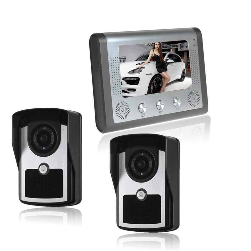 7 Color Video font b Door b font Phone wierd Video Intercom Doorphone IR Night Vision