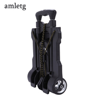 Folding Trolley Mini Aluminum Case Shopping Cart Small Luggage Cart Family Travel Suitcase for Supermarket Home Shopping Cart