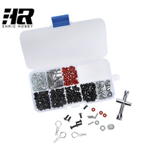 RC car 1/10 HSP 94123 tools Special Repair Tool and Screws Box Set for  include 270 Pcs Hexagon Wrench