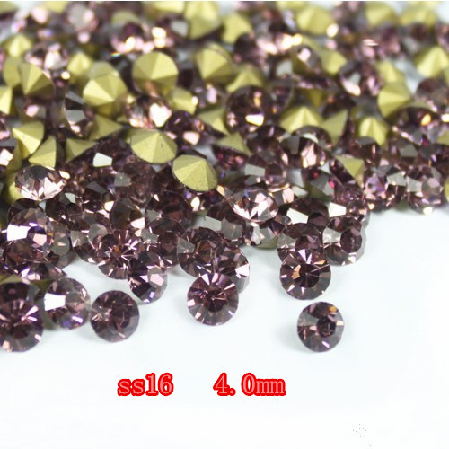 SS16(3.8-4.0mm) Light Amethyst Color,10gross/lot Pointed Back Chaton Rhinestone for Jewelry Accessory! Free Shipping ss16 3 8 4 0mm aquamarine color 10gross lot pointed back chaton rhinestone for jewelry accessory free shipping