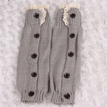 Kids Girl Crochet Knitted Lace Boot Cuffs Toppers Leg Warmer Socks Knee High Long Leg Cute Baby Socks(China)
