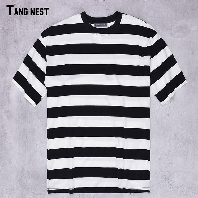 6ad7c9d0d TANGNEST Striped T shirts Summer New Fashion Brand Men s Striped Design  Short Tshirts O-Neck