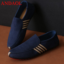 ANDAOL Mens Casual Shoes Top Quality Microfiber Solid Non-Slip Flats Anti-Odor Loafers New Luxury Business Office Walking