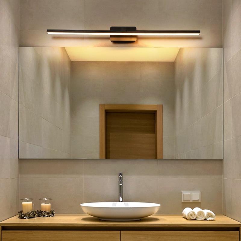 Simple modern led mirror before the lamp bathroom bathroom mirror cabinet lighting waterproof fog lamps Nordic bathroom lights