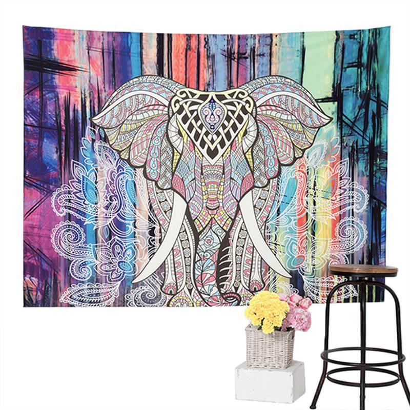 BeddingOutlet Mandala Tapisserie Floral Bleu Bohème Décoratif Tapisserie 130 cm x 150 cm 153 cm x 203 cm Hippie Mur suspendus tapisserie