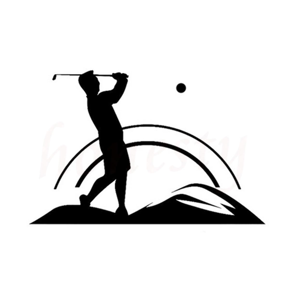 Golf Sport Silhouette Car Sticker Wall Home Glass Window
