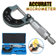 Точный измерительный инструмент 0-25 мм 0,01 мм внешний метрический манометр микрометр машинист измерения с коробкой