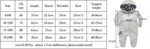 Image 5 - ملابس أطفال حديثي الولادة موضة خريف 2020 ملابس دافئة 6 م 24 م بدلة رياضية للأولاد حديثي الولادة فضفاض بأكمام طويلة للبنات بذلة شتوية قطنية بقلنسوة