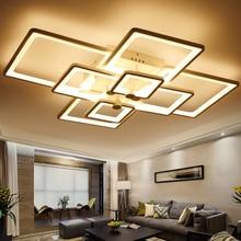 Montaje En superficie de Acrílico Moderna Lámpara de Techo Led Luces de Techo Para la Sala de estar Dormitorio Oscurecimiento lámparas luminaria
