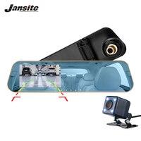 Jansite Car DVR Dual Lens Full HD 1080P Dash Cam Rearview Mirror Car Camera Video Recorder With Rear view DVR Auto Registrator