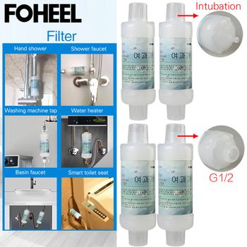 FOHEEL filtr wody dla inteligentny sedes i prysznic kran kupić 2 dostać 1 za darmo tanie i dobre opinie Electric power-assisted typu 4 8l Automatyczne działanie