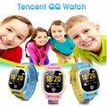 Tencent QQ Смотреть Американское Издание Дети GPS Tracker Smartwatch Телефон Камеры SOS LBS Расположение Шагомер Сигнализация Погода
