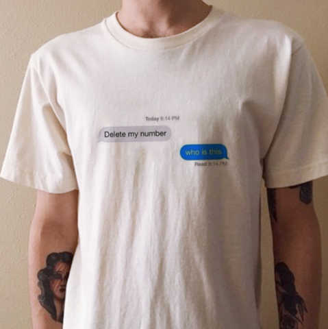 delete my number message who is this delivered funny quotes tee