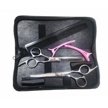 6 pulgadas familia conjunto tijeras de pelo profesional peluquería tijeras de alta calidad peluquería Sciccors herramientas tijeras de corte