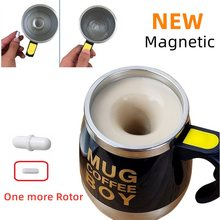 mark cup mug milk coffee auto self stirring Stainless steel metal magnetic rotor capsules(China)