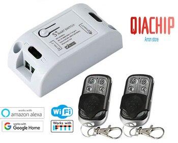 724cb72ed09 QIACHIP 433 Mhz RF módulo de relé DC 12 V Universal interruptor de Control  remoto inalámbrico 4 botón de código aprendizaje Transmisor de RF