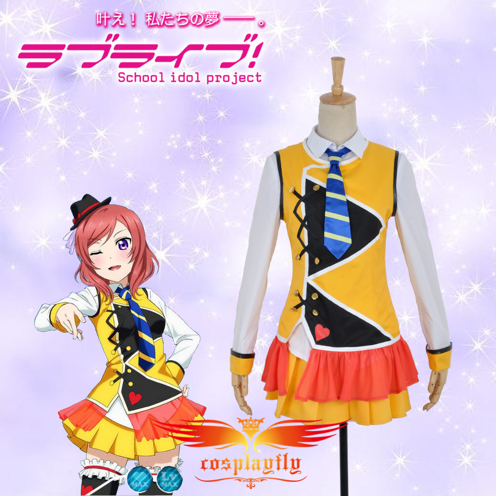 ! Love Live! Maki Nishikino Palgantong Cosplay Costume Custom Made Adult Women Outfit Clothing Dress W0733