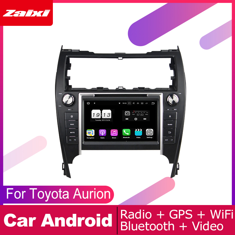 ZaiXi 2 DIN Auto DVD Player GPS Navi Navigation For Toyota Aurion 2012~2017 Car Android Multimedia System Screen Radio Stereo