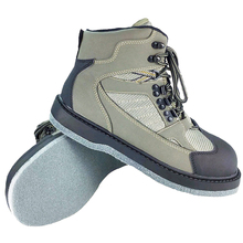 أحذية التخوزيض لصيد السمك الجيش الأخضر الجلود ورأى وحيد الصيد والصيد أحذية روك المضادة للانزلاق التجفيف السريع المنبع الخوض الأحذية