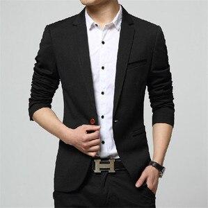 Image 4 - Covrlge 2018 Frühling Herbst Neue Männer Blazer Mode Slim Fit Männlichen Anzug Jacke Mantel Elegante Herren Kleid Kleidung Hochzeit Mantel MWX013