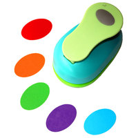 Free Ship Large 2 4 8cm Oval Paper Puncher Scrapbooking Punches Craft Perfurador Diy Puncher Paper