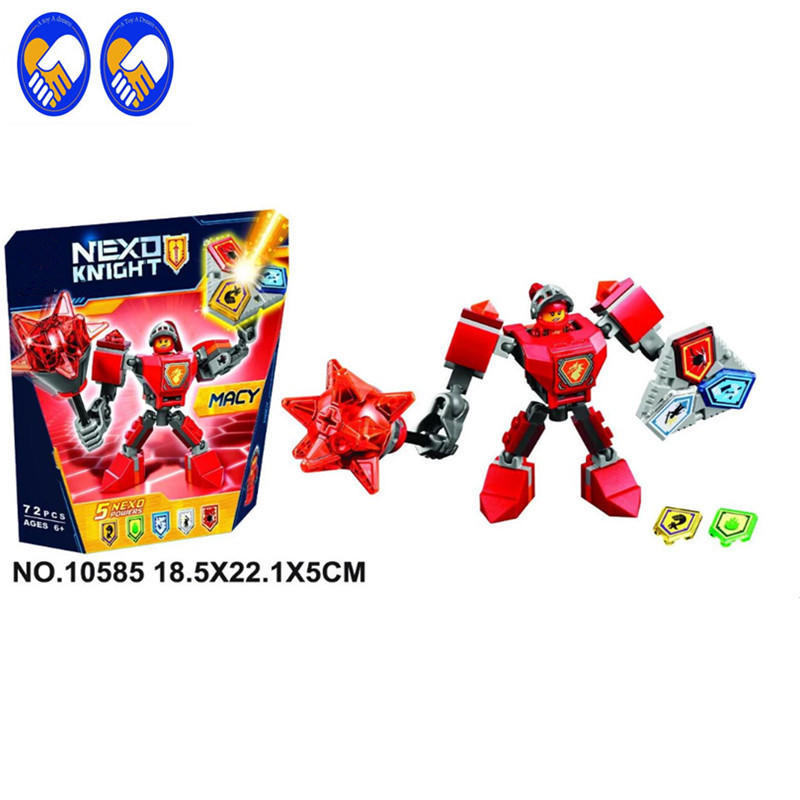 A Toy A Dream 1Pcs 10585-10589 Nexus Knights Nexus Powers Pouvoirs Building blocks Action Aaron Lance Clay bricks toy compatible цены онлайн