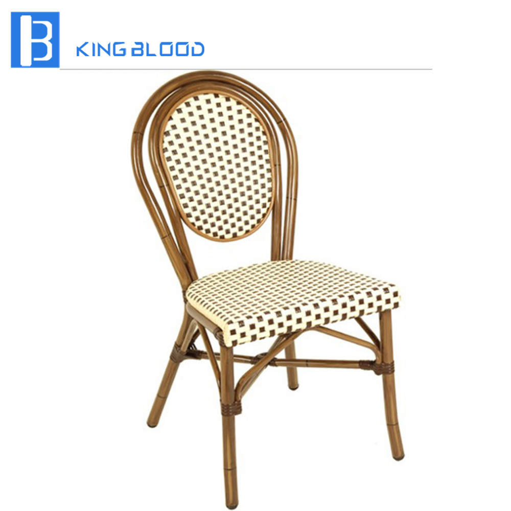 Outdoor french bistro cafe rattan chairsOutdoor french bistro cafe rattan chairs