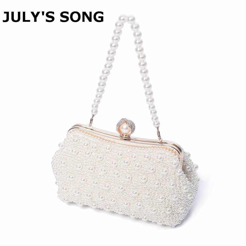 Vrouwen Hoge Kwaliteit Luxe Crystal Evening Clutch Bag Elegante Clutch Handtas Lady Wedding Purse Partij Strass Parel Portemonnee