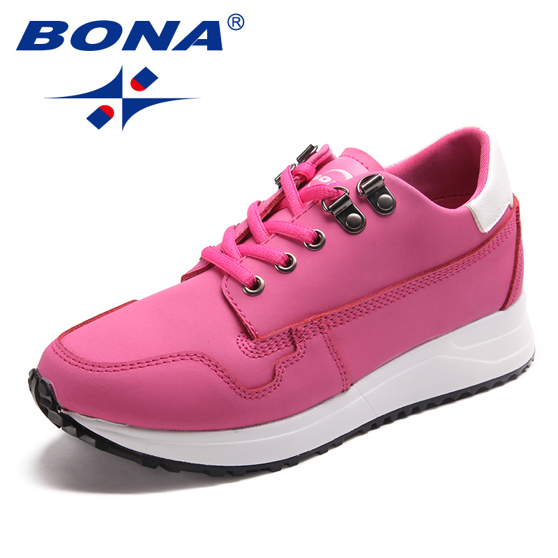 BONA New Arrival Classics Style Women Walking Shoes Leather Women Athletic Shoes Outdoor Jogging Sneakers Fast