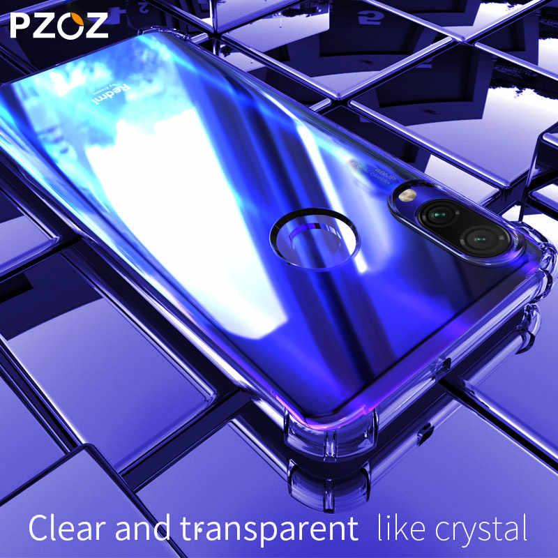 PZOZ для Xiao mi Red mi Note 7 8 7A K20 Pro mi CC9 A3 защитный чехол красный mi Note8 7 противоударный силиконовый ТПУ мягкий прозрачный чехол