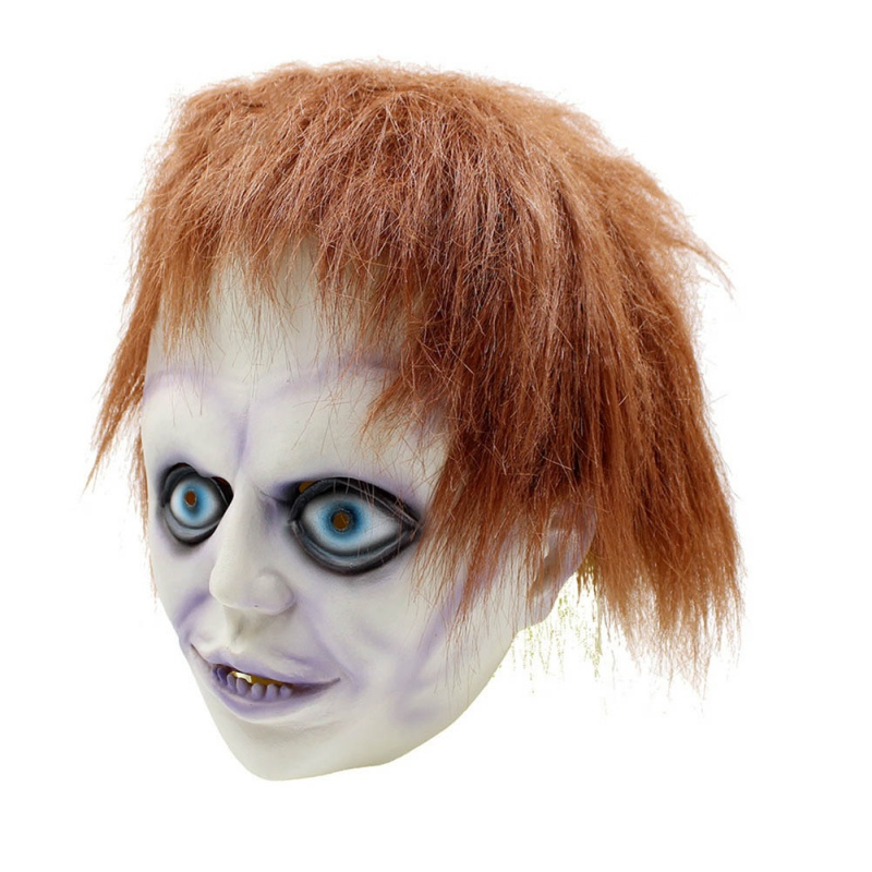 New Mask Beathable Emulsion Full Face Mask Bad Boy Angry Child Style Single-eye Red-eye Monster Halloween Costume Party