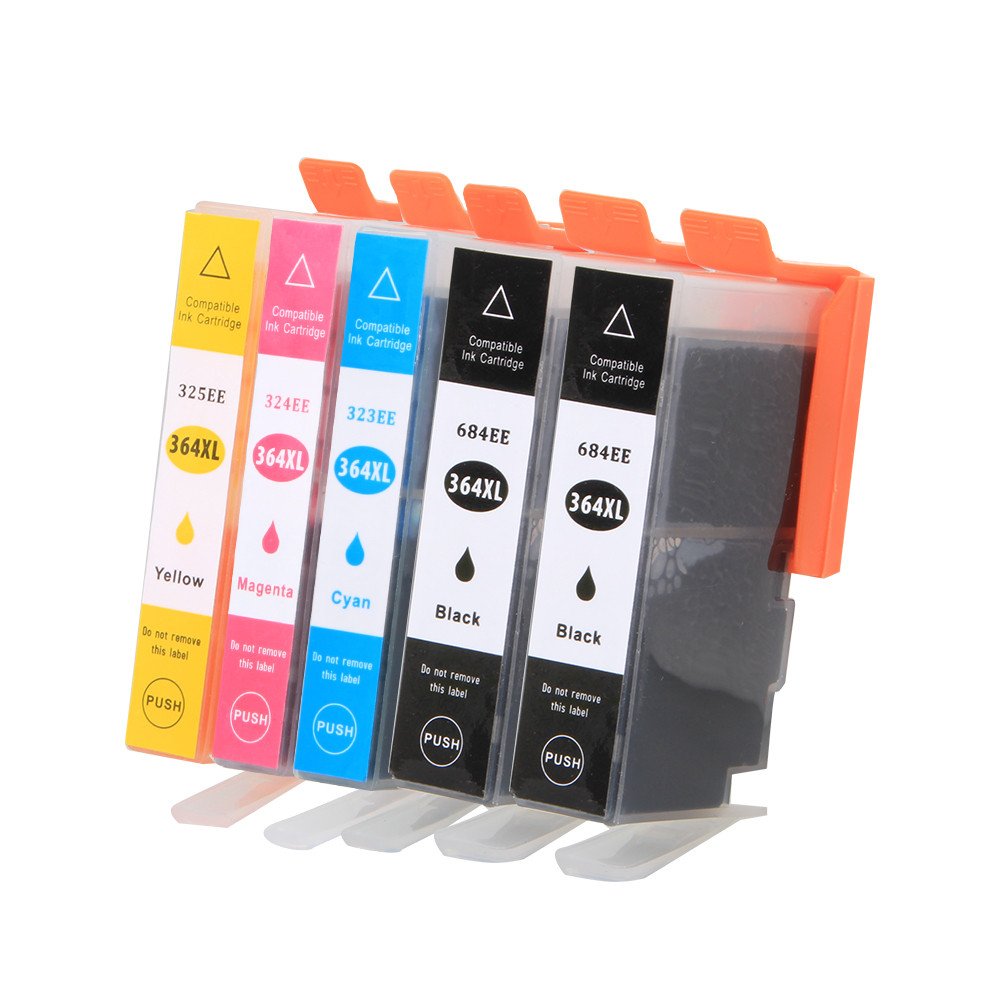 5Pack 364XL Ink Cartridge Replacement for <font><b>HP</b></font> <font><b>364</b></font> xl cartridges for Deskjet 3070A 5510 6510 B209a C510a C309a Printer image