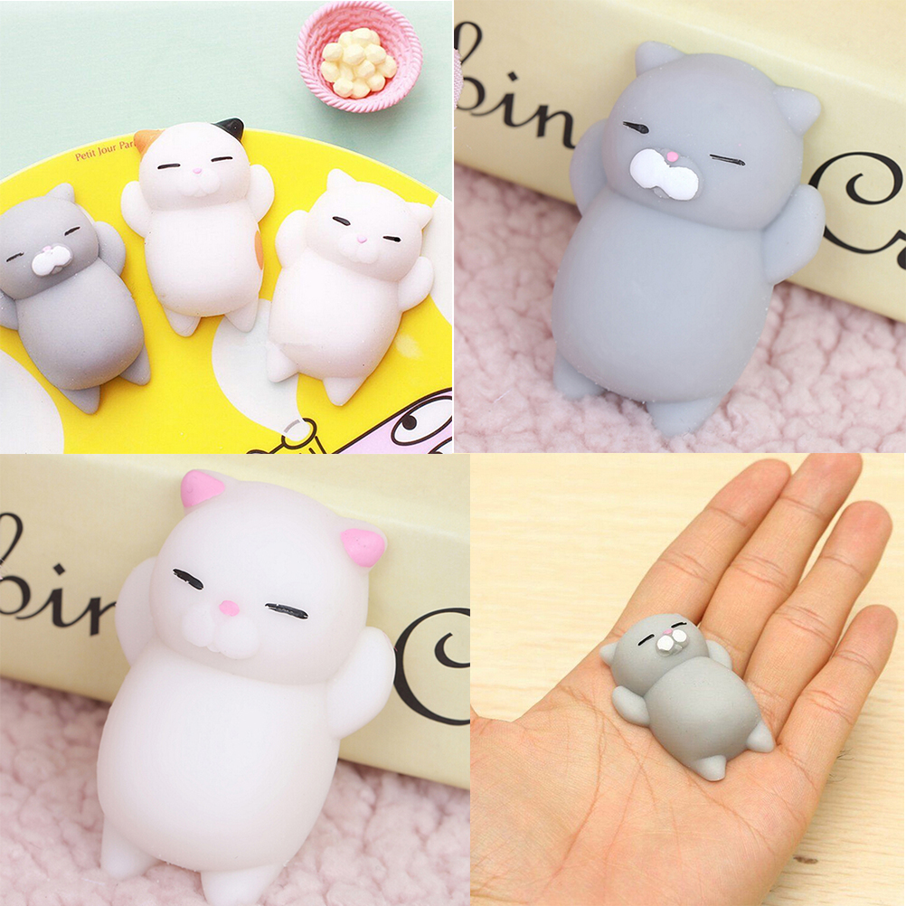 Ushihito Kawaii Squishy Cat Mochi Animal Lazy Cat Puppy Pussy Cotton Candy Slow Rising Kid Toy For Bag Accessories &ornament Bag Parts & Accessories
