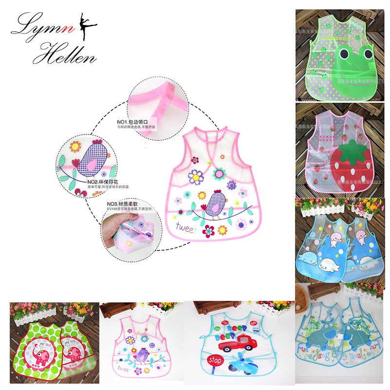baby Bib rice apron food pocket EVA vest Squishy toys waterproof bibs clothes meal clothing cover cartoon animal Kids Children