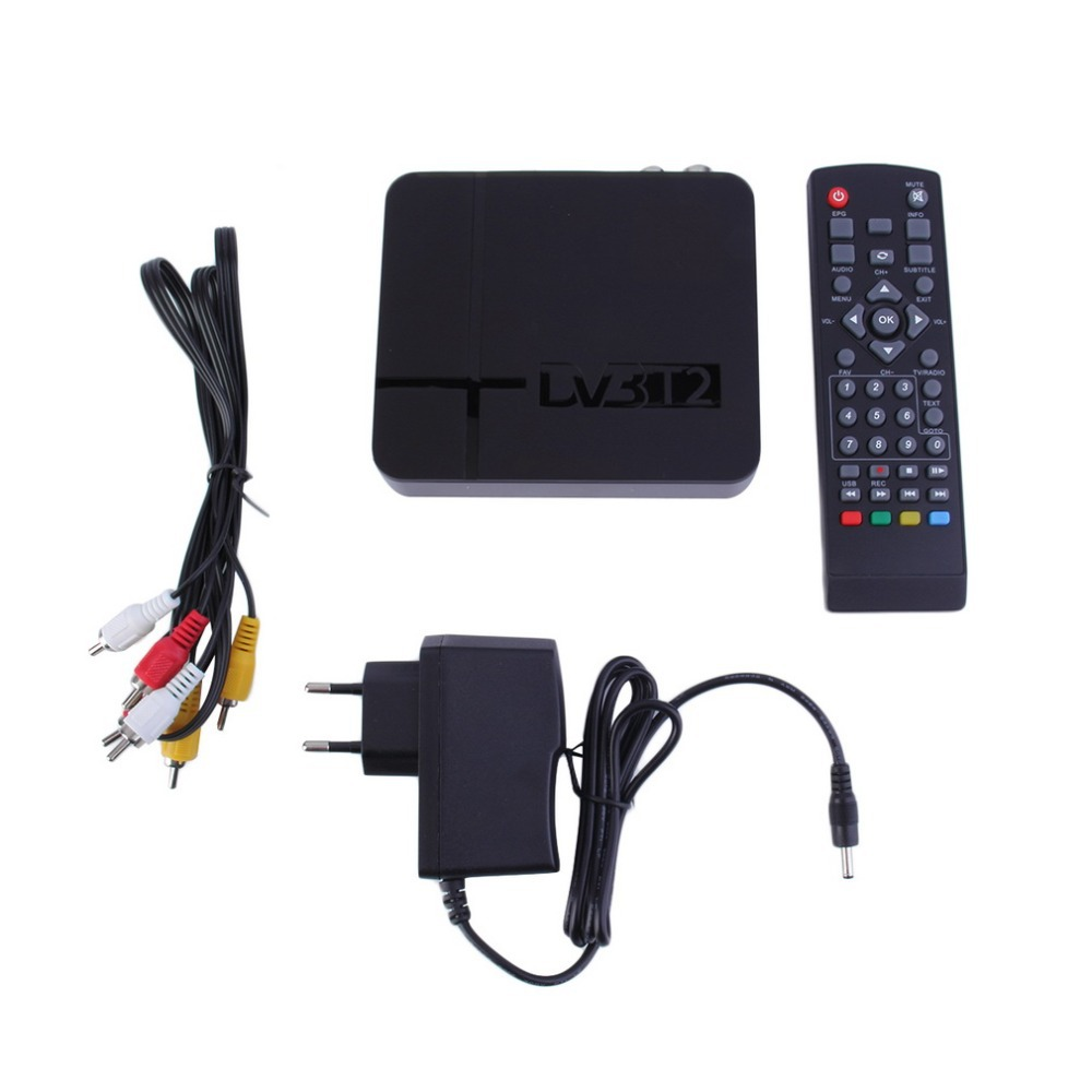 Professional MIni HD DVB-T2 Digital Terrestrial Receiver 1GB+8GB Set-top Box Compatible with DVB-T Smart Intelligent TV Box