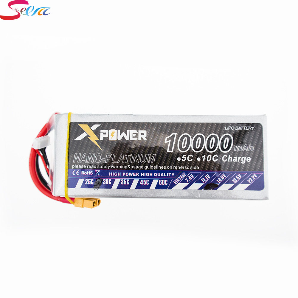 3pcs 14.8V 4s Lipo battery 10000mAh 30C max 35C Xpower XT60 T EC5 XT90 plug for rc drone Helicopter Airplane parts летние шины bf goodrich 225 45 r18 95w g grip